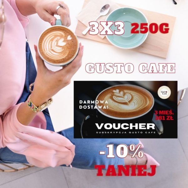 Subskrypcja Gusto Cafe 3x3