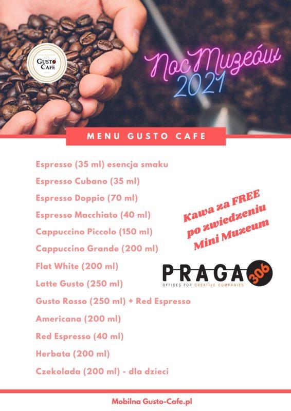 Menu Gusto Cafe na Event